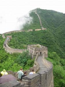 The Great Wall of China near Mutianyu